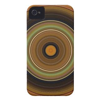Hypnotic Circle Brown Green Orange Case-Mate iPhone 4 Cases