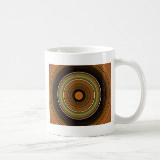 Hypnotic Circle Brown Green Orange Coffee Mug
