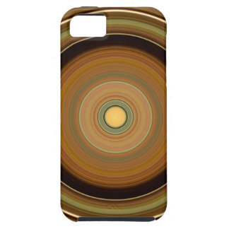 Hypnotic Circle Brown iPhone 5 Case