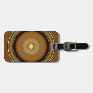 Hypnotic Circle Brown Luggage Tag