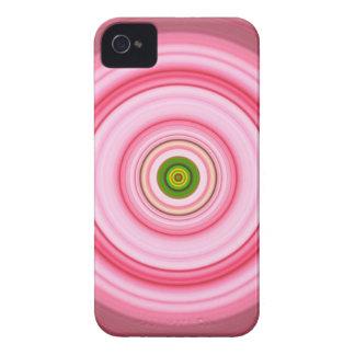 Hypnotic Circle Fuchsia Green iPhone 4 Cases
