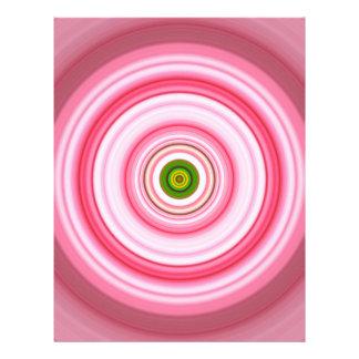 Hypnotic Circle Fuchsia Green Letterhead