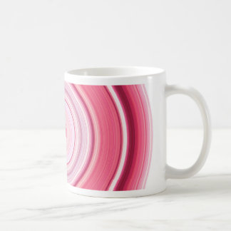 Hypnotic Circle Fuchsia White Coffee Mug