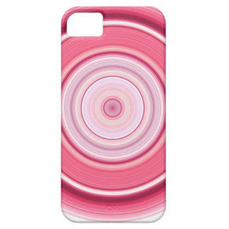 Hypnotic Circle Fuchsia White iPhone 5 Cases
