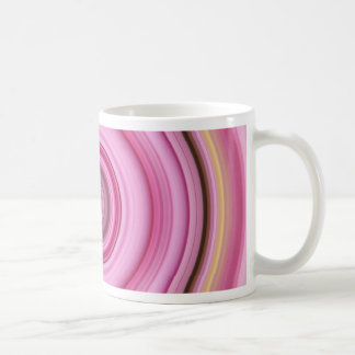 Hypnotic Circle Pink Yellow Coffee Mug