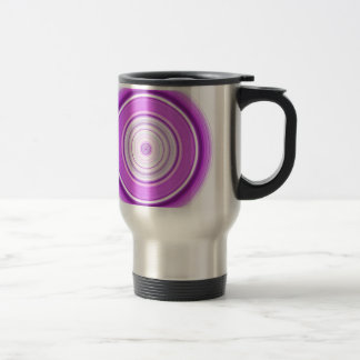 Hypnotic Circle Purple Travel Mug