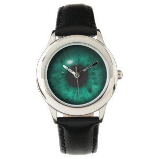 Hypnotic Deep Aqua Marine Green Eye Retina Watch
