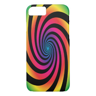 HYPNOTIC DISC Mesmerizing Neon Color Vortex Spiral iPhone 7 Case