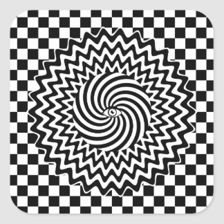Hypnotic eye square sticker