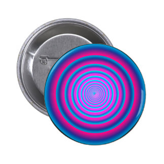 Hypnotic Fuzzy Purple Crazy Circular Vortex Disc 2 Inch Round Button