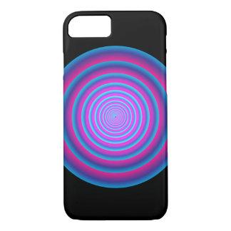 Hypnotic Fuzzy Purple Crazy Circular Vortex Disc B iPhone 7 Case
