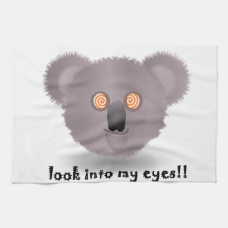 hypnotic koala hand towel