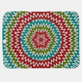 Hypnotic mandalaic flower baby blanket