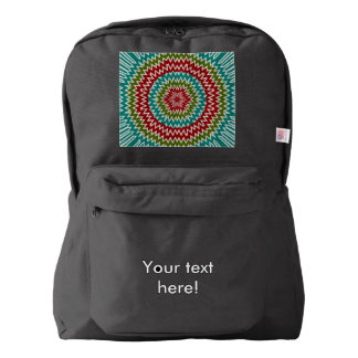 Hypnotic mandalaic flower backpack