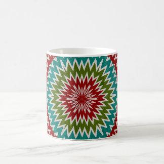 Hypnotic mandalaic flower coffee mug
