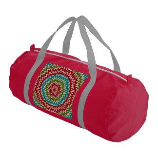 Hypnotic mandalaic flower gym bag