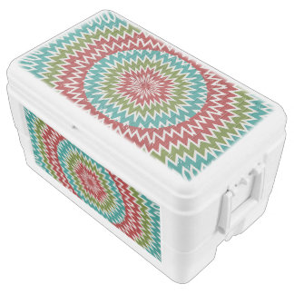 Hypnotic mandalaic flower ice chest