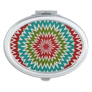 Hypnotic mandalaic flower vanity mirrors