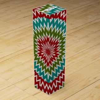 Hypnotic mandalaic flower wine box