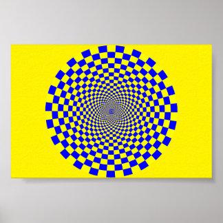 Hypnotic Optical Illusion Poster