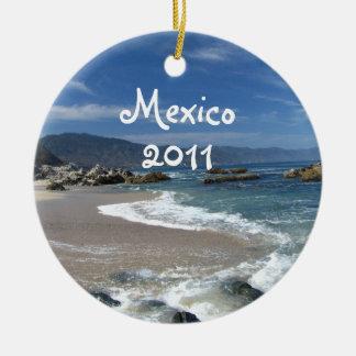 Hypnotic Pacific; Mexico Souvenir Ceramic Ornament