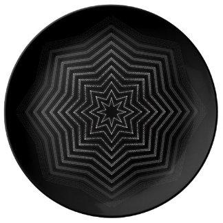 Hypnotic Plate Porcelain Plates
