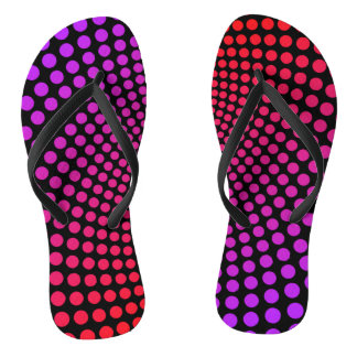 Hypnotic Polka Dots Psychedelic Pop Art Pattern Flip Flops