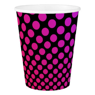 Hypnotic Polka Dots Psychedelic Pop Art Pattern Paper Cup