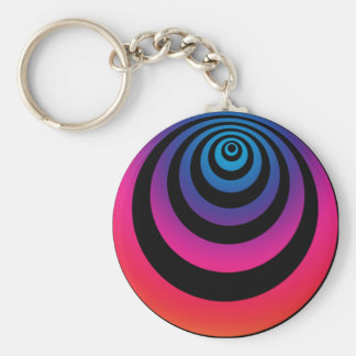 Hypnotic Purple Keychain