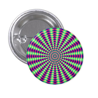 Hypnotic Rings and Beams 1 Inch Round Button