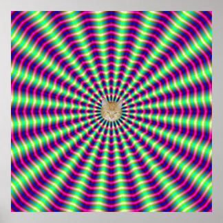 Hypnotic Rings and Beams Poster