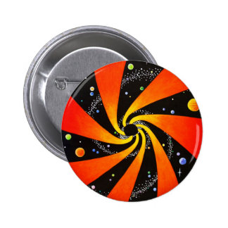 HYPNOTIC SPIRAL GALAXY 2 INCH ROUND BUTTON