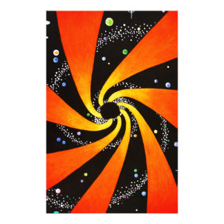 HYPNOTIC SPIRAL GALAXY PERSONALIZED STATIONERY