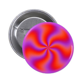 Hypnotic Spiral Optical Illusion Funny Neon 2 Inch Round Button