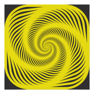 Hypnotic spiral poster