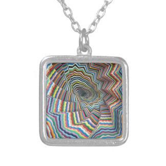 Hypnotic Spiral Silver Plated Necklace