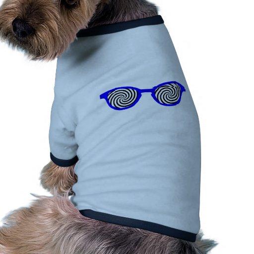 Hypnotisez la jante bleue de lunettes de soleil le t-shirt pour chien