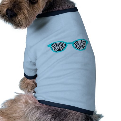 Hypnotisez la jante cyan de lunettes de soleil le  tee-shirts pour animaux domestiques