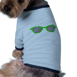 Hypnotisez la jante verte de lunettes de soleil le manteaux pour animaux domestiques