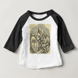 Hypnotism Drawing with Mirror Baby T-Shirt