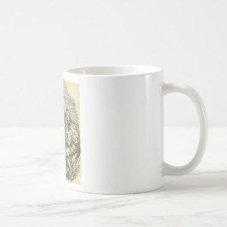 Hypnotism Drawing with Mirror Coffee Mug