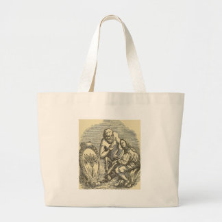 Hypnotism Drawing with Mirror Large Tote Bag