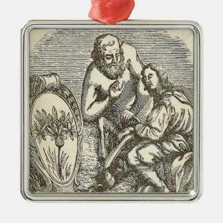 Hypnotism Drawing with Mirror Metal Ornament
