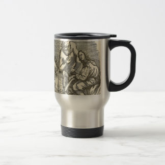 Hypnotism Drawing with Mirror Travel Mug