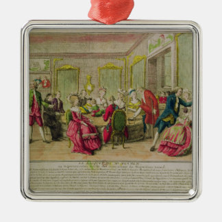 Hypnotism Session with Franz Anton Mesmer  1784 Silver-Colored Square Ornament