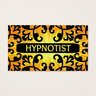 Hypnotist Sunshine Damask Business Card