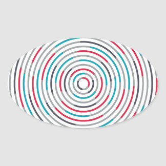 #Hypnotize Oval Sticker