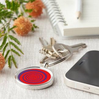 hypnotize red spiral keychain