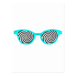 Hypnotize Sunglasses Cyan Rim The MUSEUM Zazzle Gi Postcard