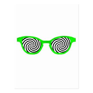 Hypnotize Sunglasses Green Rim The MUSEUM Zazzle G Postcard